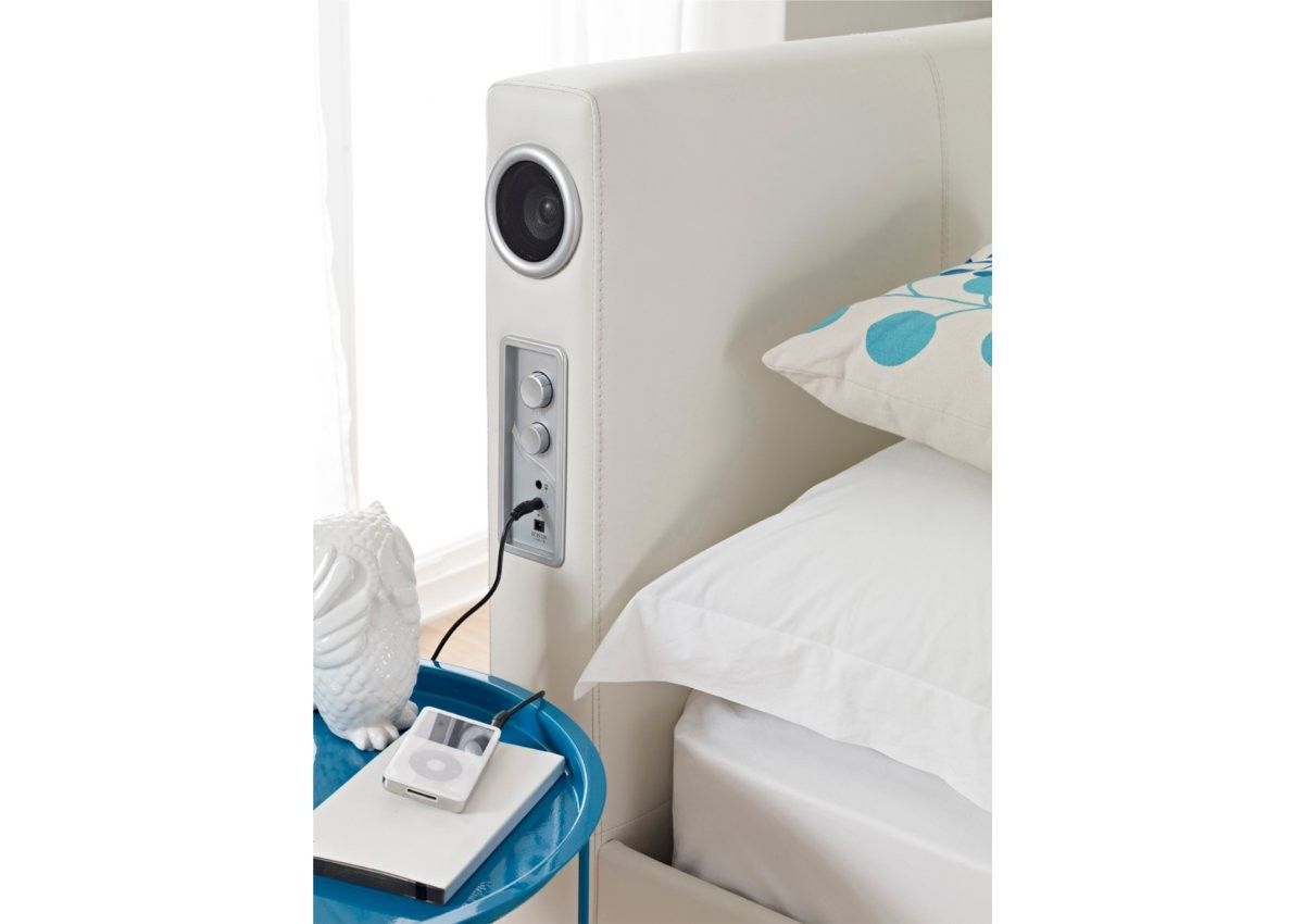 Cool Speakers For Bedroom Sound Leather Bed Featuring Built In Stereo Speakers And