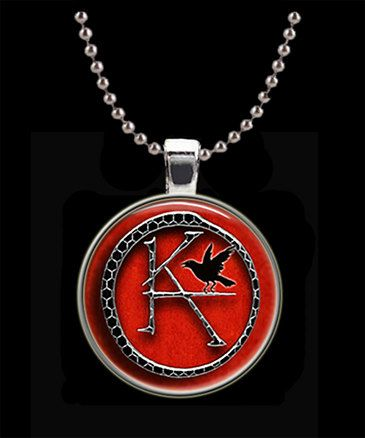 Ka Symbol The Dark Tower Round Pendant With Chain On Etsy 1000
