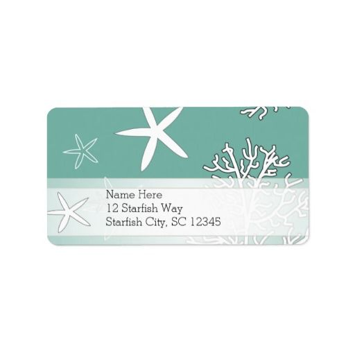 Starfish and Coral Reef Personalized Address Labels