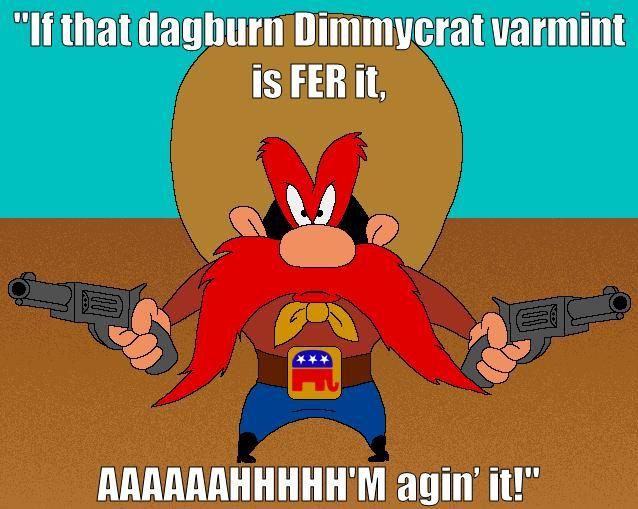 quotes of yosemite sam and image | Quidquid id est, timeo Republicanos et securitatem ferentes.