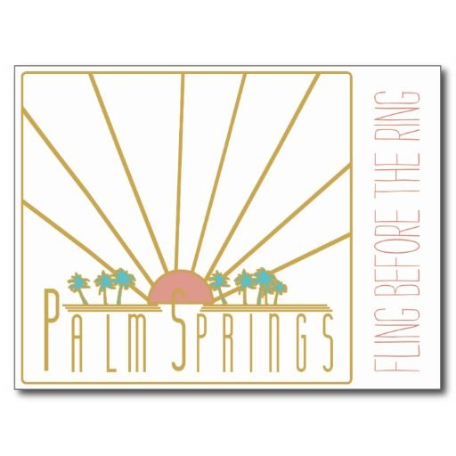 Palm Springs Bachelorette Invitation Postcard  Wedding Decor