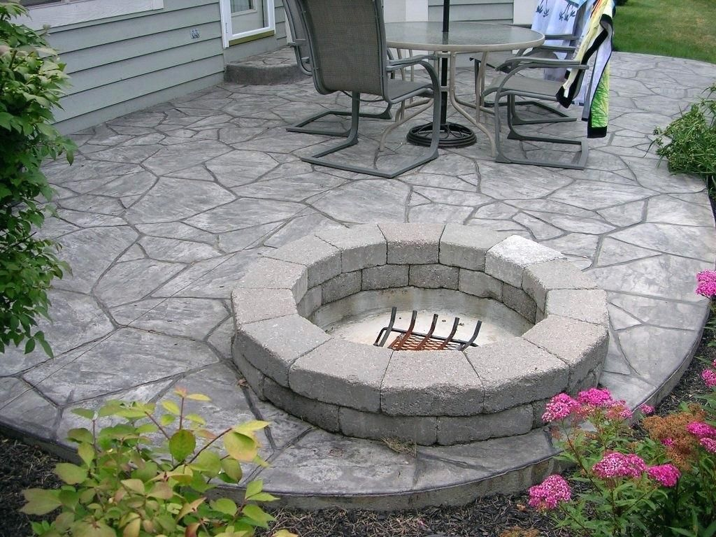Image result for stamped concrete patio cost - Image Result For Stamped Concrete Patio Cost Landscaping In 2018
