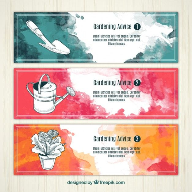 Download Watercolor Gardening Banners For Free Card Banner Banner Big Sales Banner