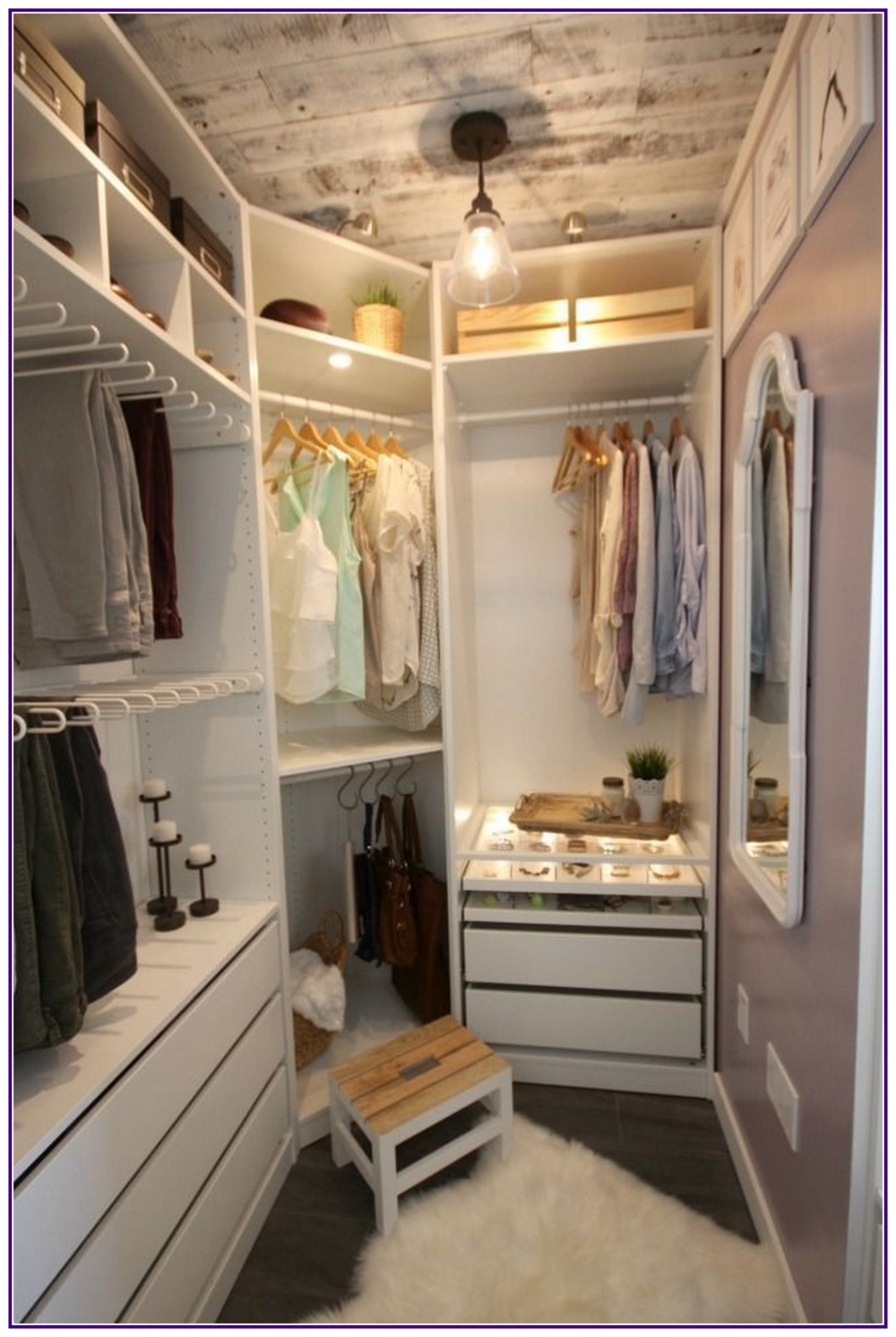 10 Stunning Space Saving Ideas For Apartment Aux Pays Des Fleurs Com Master Bedroom Closets Organization Organizing Walk In Closet Closet Remodel