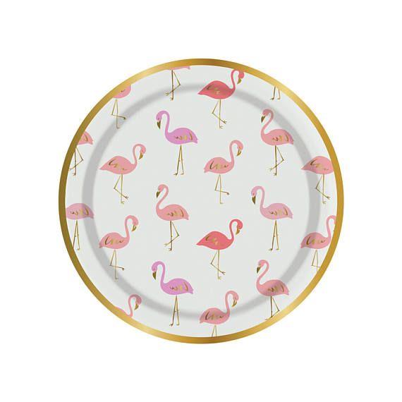 Flamingo paper plates. Set of 8. SMALL flamingo party plates. Flamingle plates.  sc 1 st  Pinterest & Flamingo paper plates. Set of 8. SMALL flamingo party plates ...