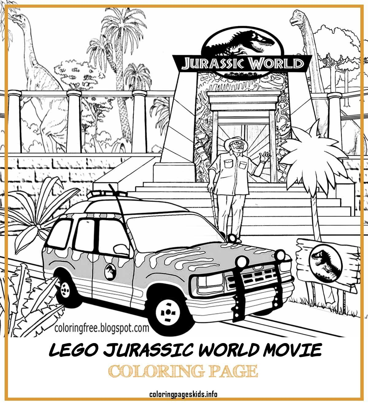 4 Lego Jurassic World Movie Coloring Page In 2020 Lego Jurassic World Movie Jurassic World Movie Lego Jurassic World