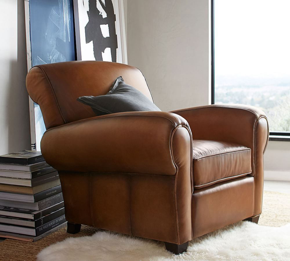 Manhattan Leather Armchair Leather armchair, Armchair