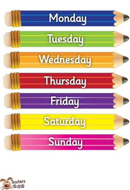 Teacher\'s Pet - Small pencil-days of the week - FREE Classroom ...