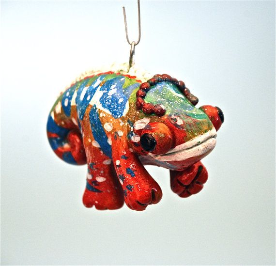 Panther Chameleon Christmas Ornament | ornaments | Pinterest ...