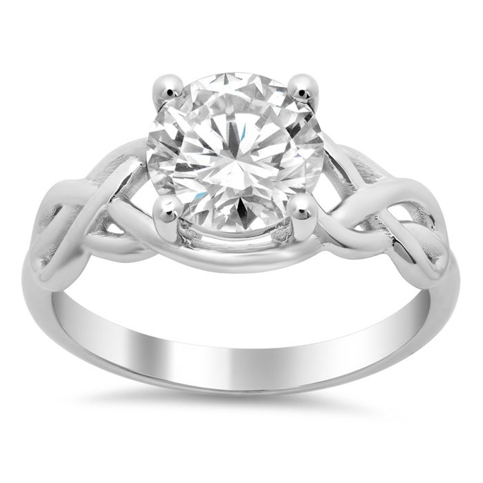 Ring Celtic Knot Solitaire Engagement