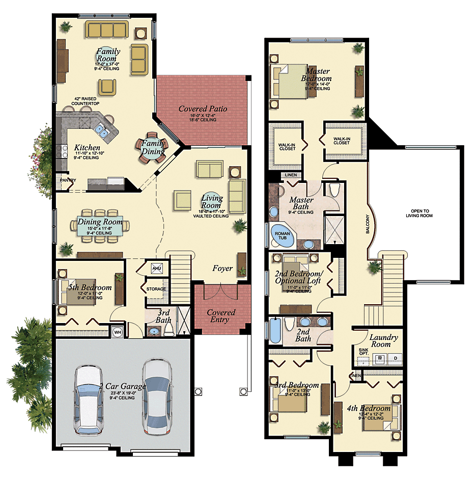 Jamaica New House Plan In Canyon Trails Boynton Beach Florida Coastal House Plans New House Plans Florida Real Estate