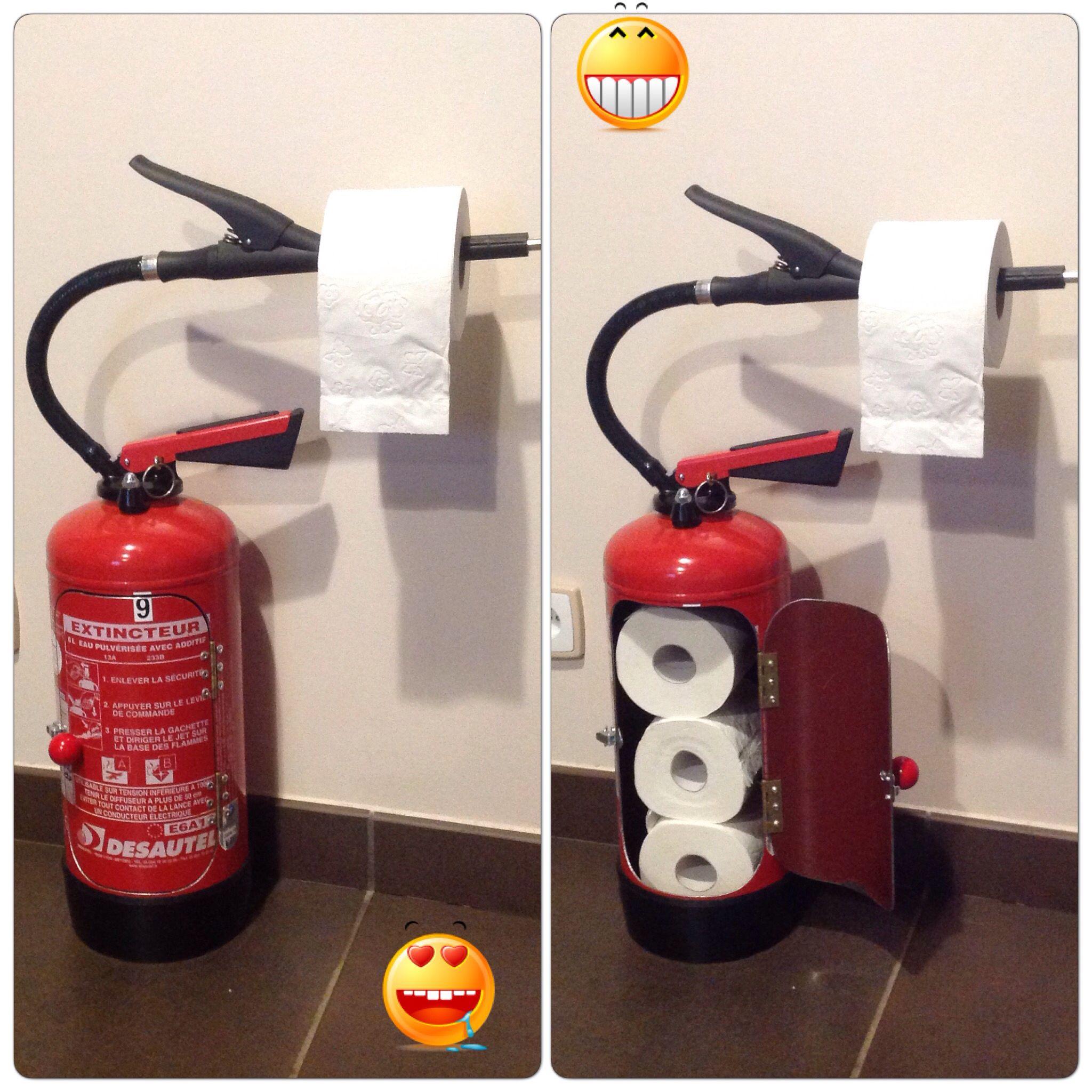 Dérouleur Papier Wc Metal dérouleur papier toilettes avec un extincteur | extincteur
