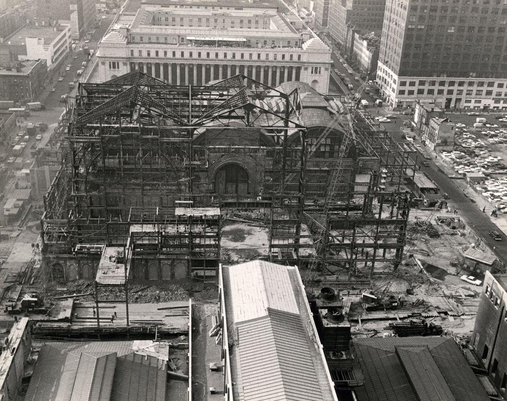 ffe593485362 Aerial view of Penn Station demolition