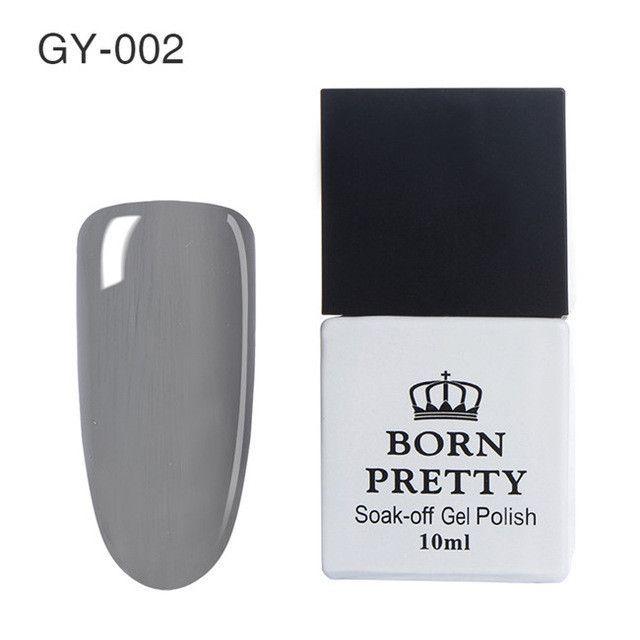 BORN PRETTY Gray Series Pure Color Multicolor Gel - 12 Colors