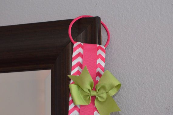 Hair Bow Holder Hair Clip Organizer Ribbon by FlutterBunnyBoutique