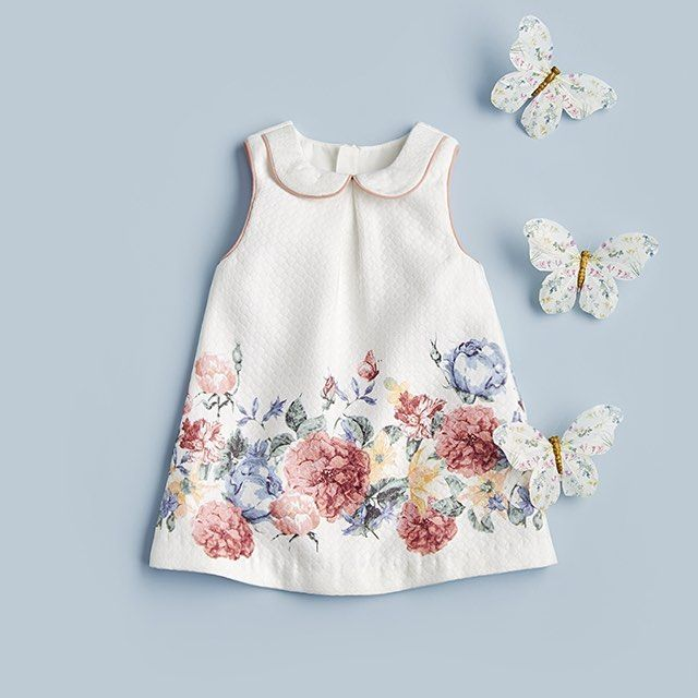 Pretty florals for little ladies 🌸💐🌷🌺 Girls Border Print Dress ...