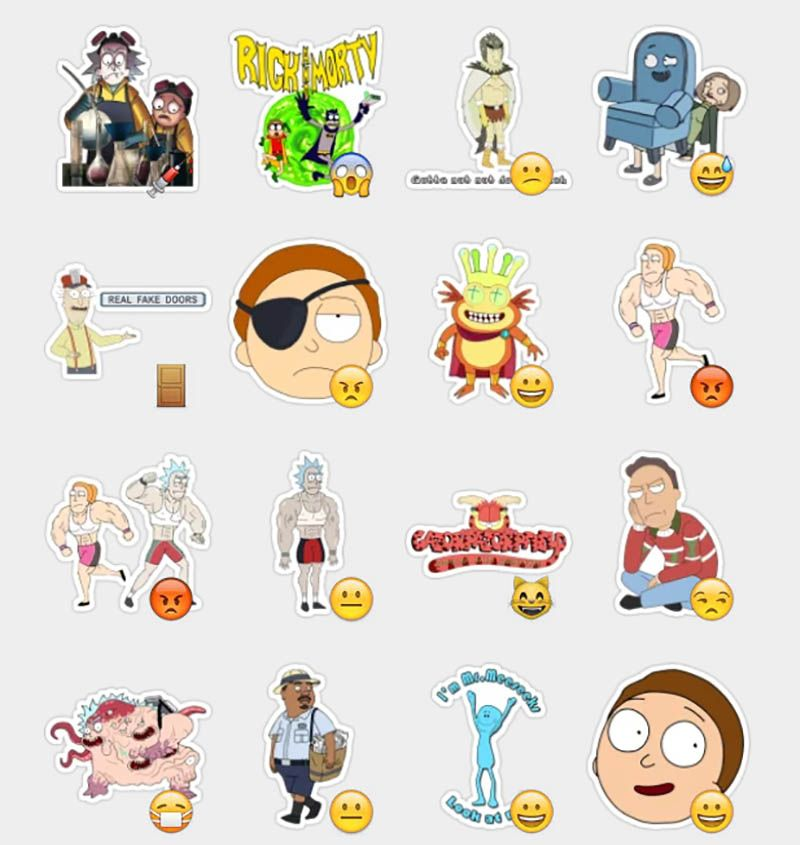 Rick Morty Stickers Set Telegram Stickers Rick And Morty