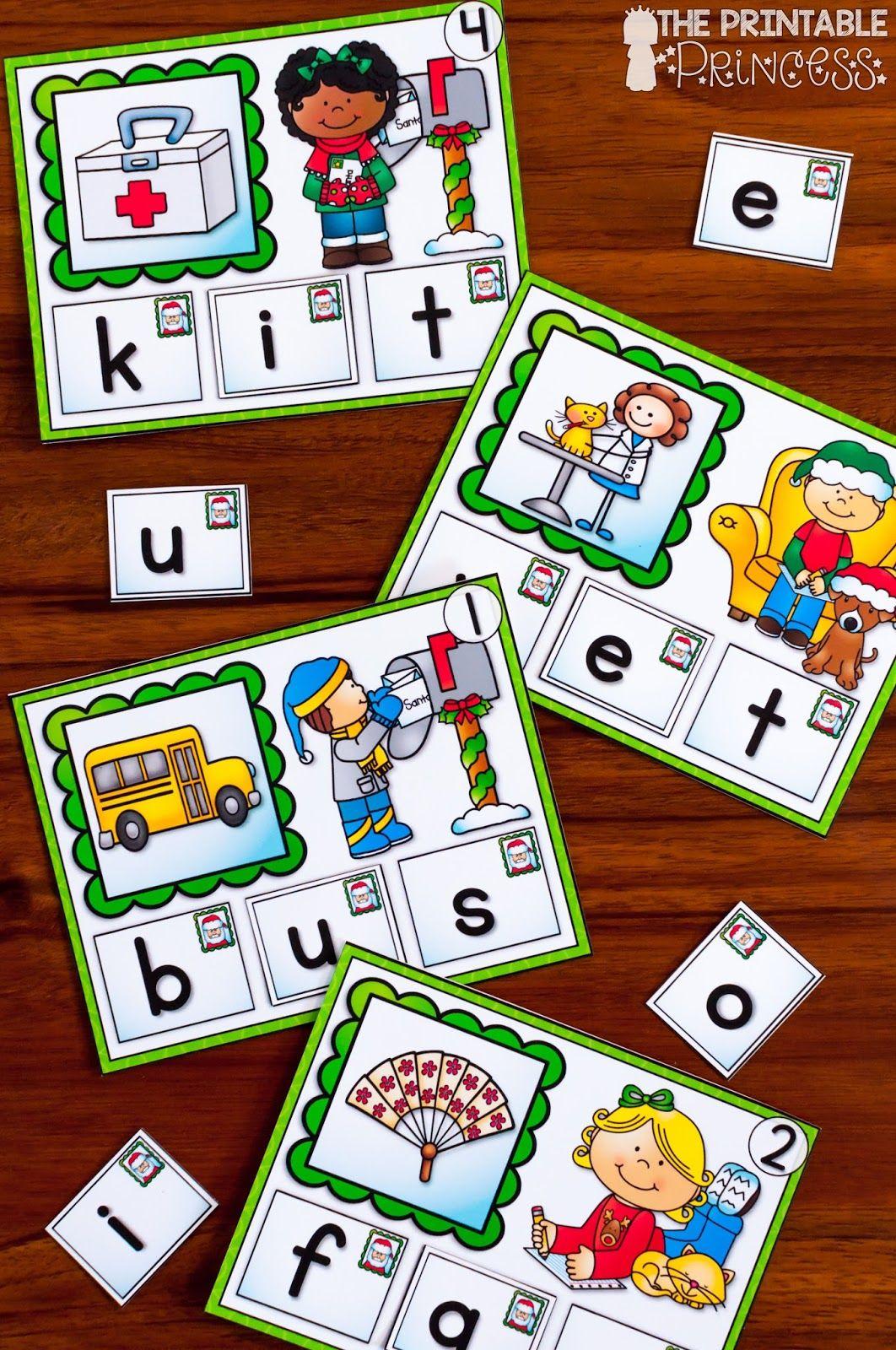 Christmas Literacy And Math Activities For Kindergarten
