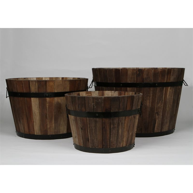 Find Tuscan Path Half Barrel Wooden Planter At Bunnings Warehouse. Visit  Your Local Store For The Widest Range Of Garden Products.