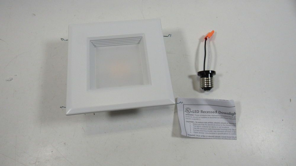 Nicor Lighting 5 Inch Square 4000k Retrofit Kit White Dqr5 10 120 4k Wh Bf Ebay Link 4000k Downlights Led