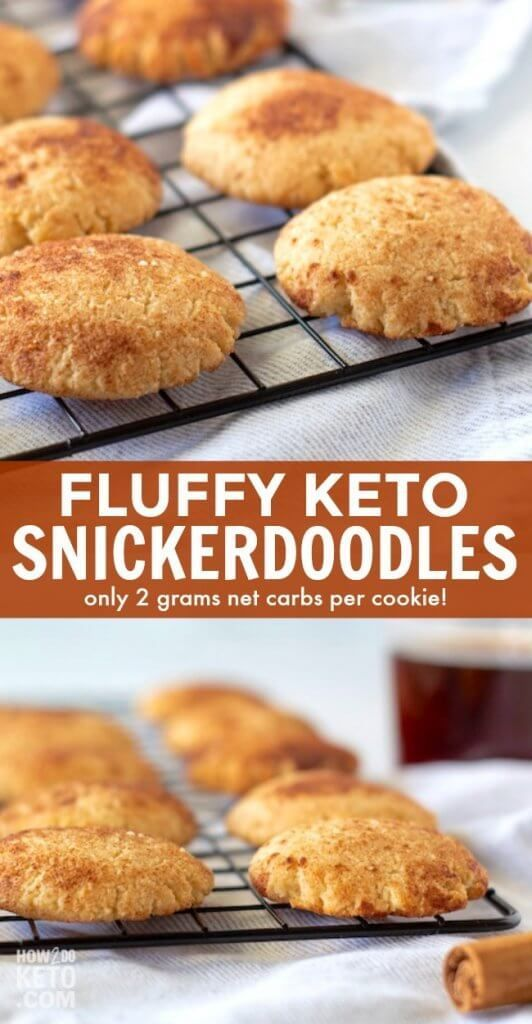 Our fluffy and delicious cinnamon sugar keto snickerdoodles have only 2g net car... -