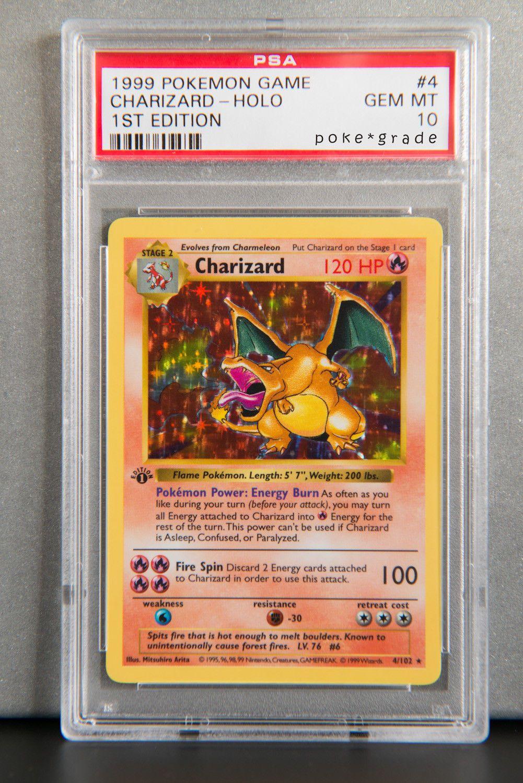 Charizard First Edition Pokemon Cards Pokemon Charizard Card