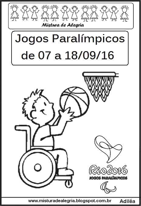 Jogos Paralimpicos 2016 Desenho Imprimir Jpg 464 677 Com