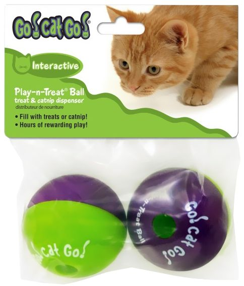 Ourpets Go Cat Go Play N Treat Ball 2 Pack 1 89 Cat Ball Cat Toys Cat Playing
