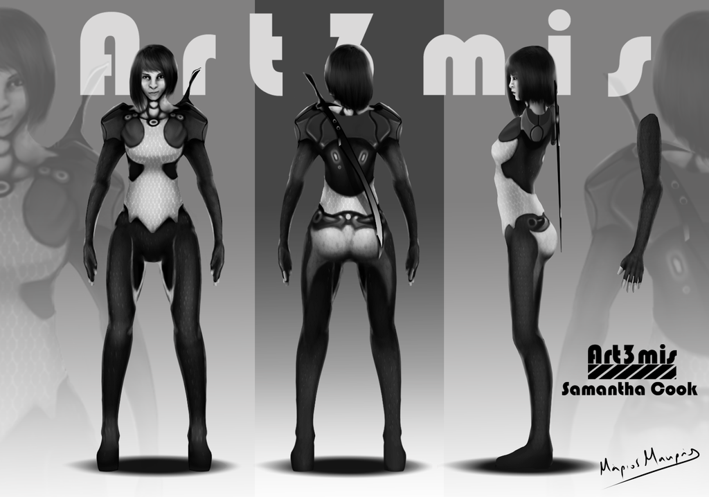 ready player one art3mis   Ready Player One: Art3mis Orthographic by Marmak8