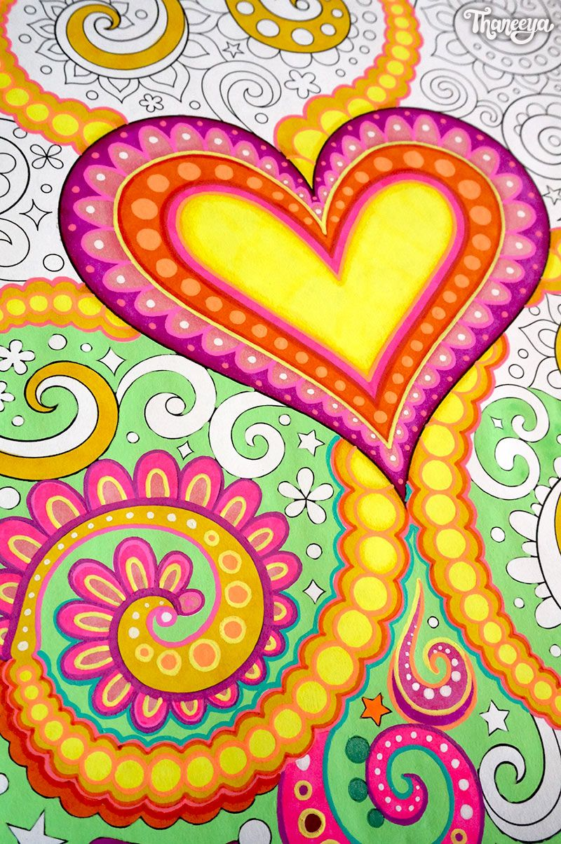 Close Up Of A Heart Coloring Page From Thaneeya McArdles Power Love Book