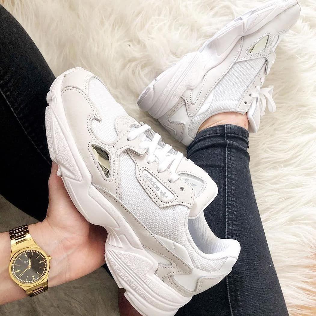 Adidas Falcon Wit Dames in 2020 | Schoenen sneakers, Adidas ...