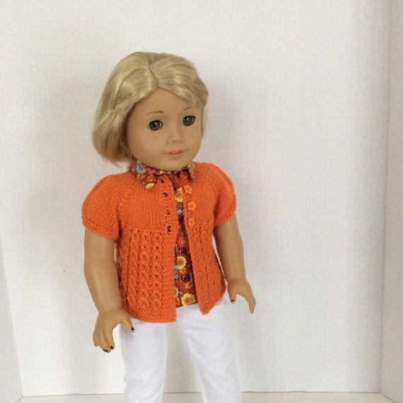 Grace-- Short Sleeve Sweater Knitting Pattern for American Girl -PDF ...