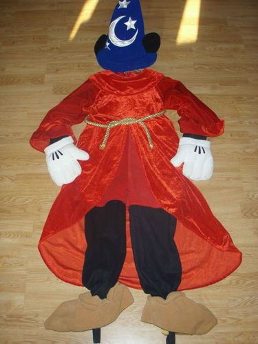 Disney World MICKEY MOUSE Sorcerer ADULT COSTUME M Men HALLOWEEN Wizard FANTASIA #WaltDisneyWorld #Costume & Disney World MICKEY MOUSE Sorcerer ADULT COSTUME M Men HALLOWEEN ...