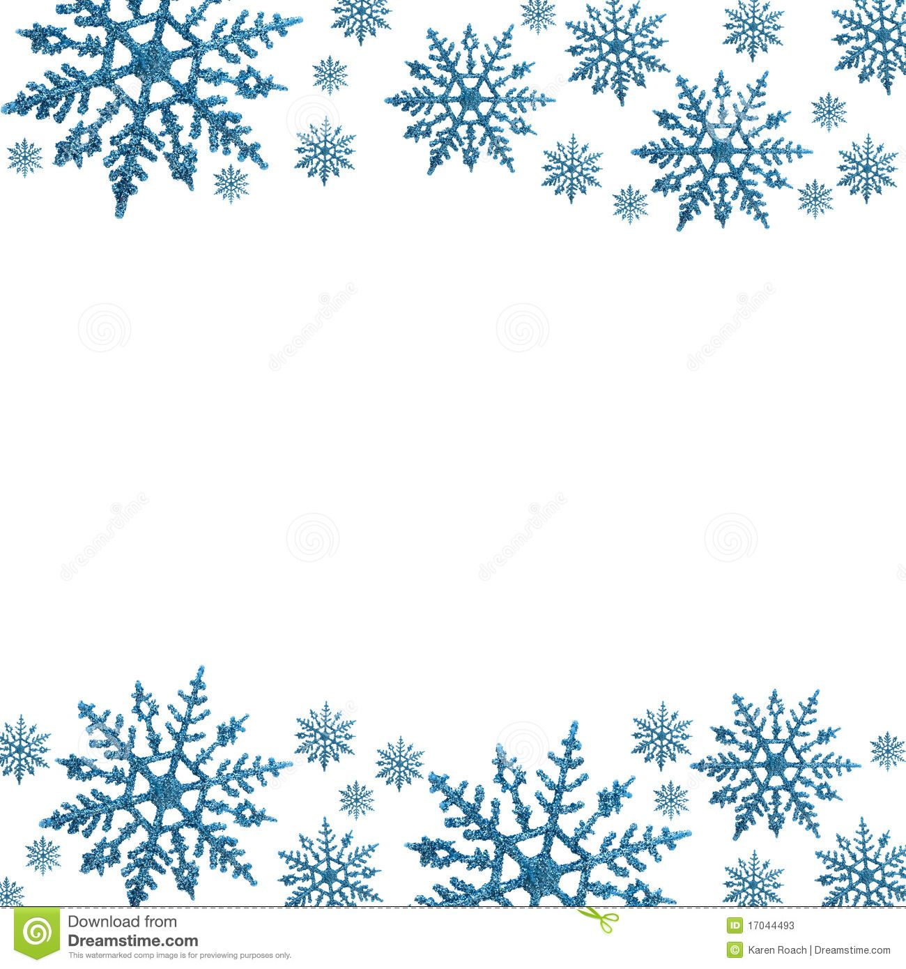snowflake borders for word