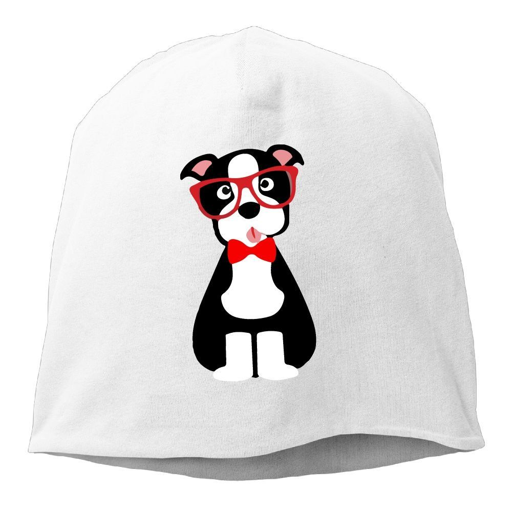 42082106565 Hipster Boston Terrier Unisex Warm Winter Hat Knit Skull Beanie Slouchy  Beanie Hat Cap White