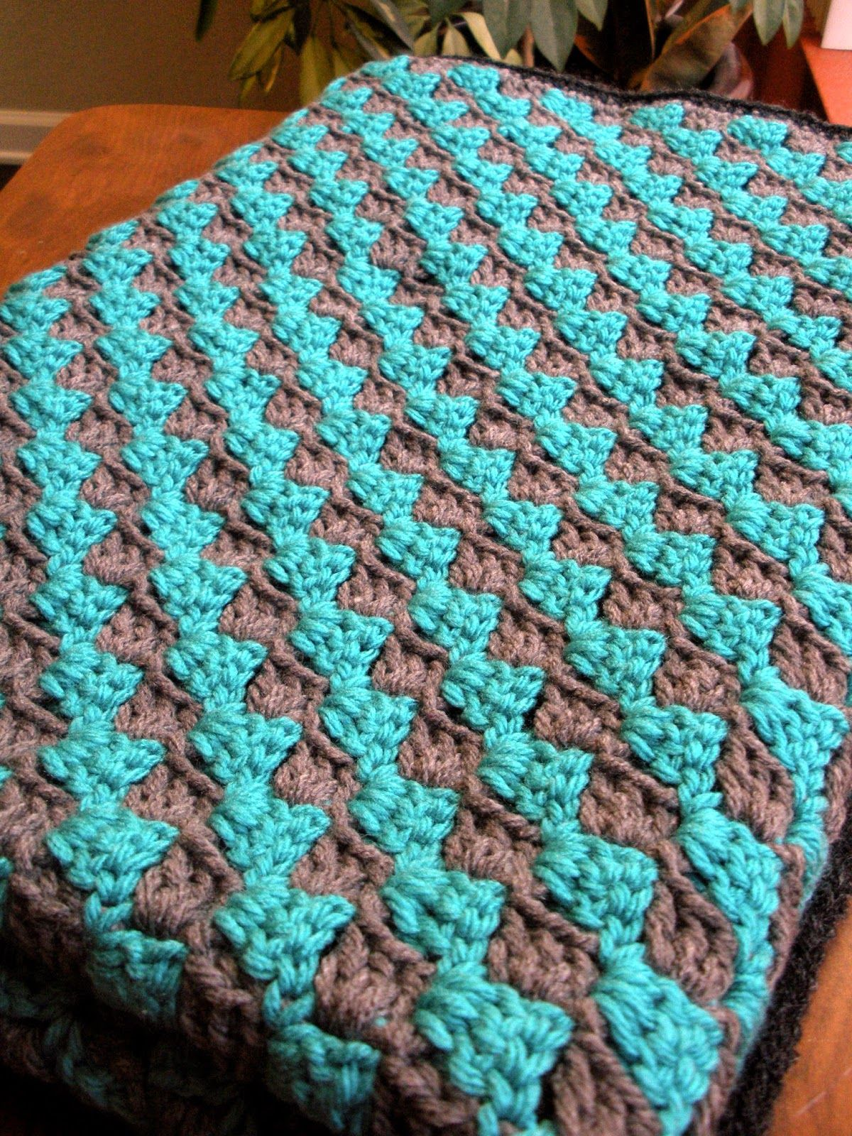 Cera Boutique: Teal and Grey Diagonal Granny Stripe Crochet Baby ...