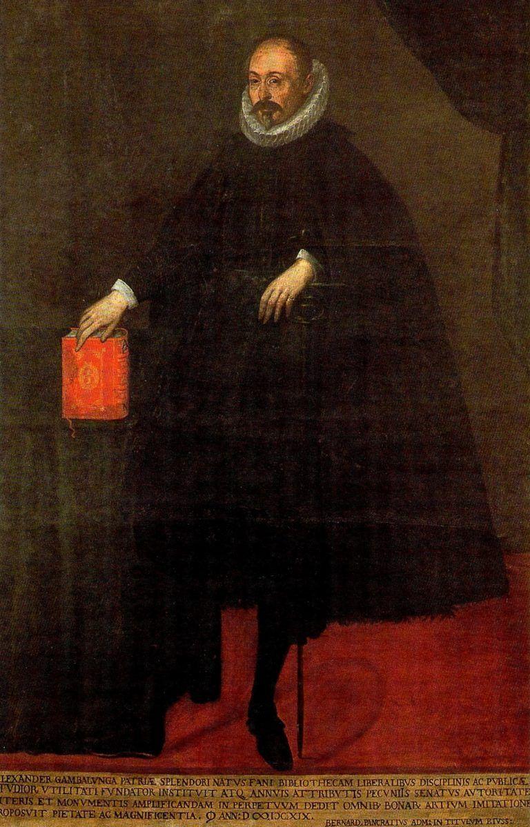 Alessandro Gambalunga, mecenate, Rimini 15641619