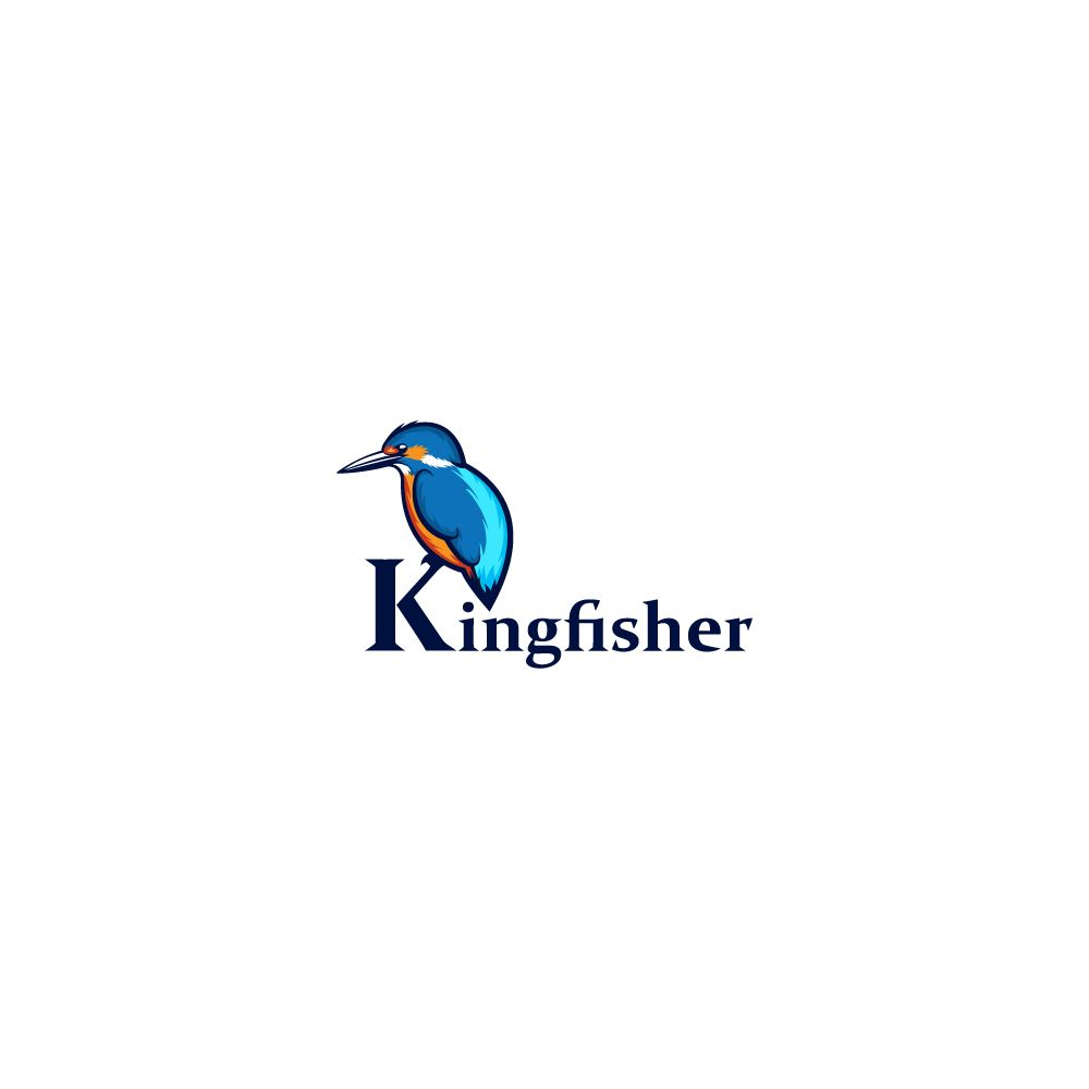 Bird Kingfisher Logo Kingfisher Natural Logo Fish Logo