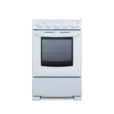 Summit Appliance Slide In Look Smooth Top 20 2 3 Cu Ft Free Standing Electric Range Finish Color White Electric Range Cleaning Oven Window Oven Cleaning