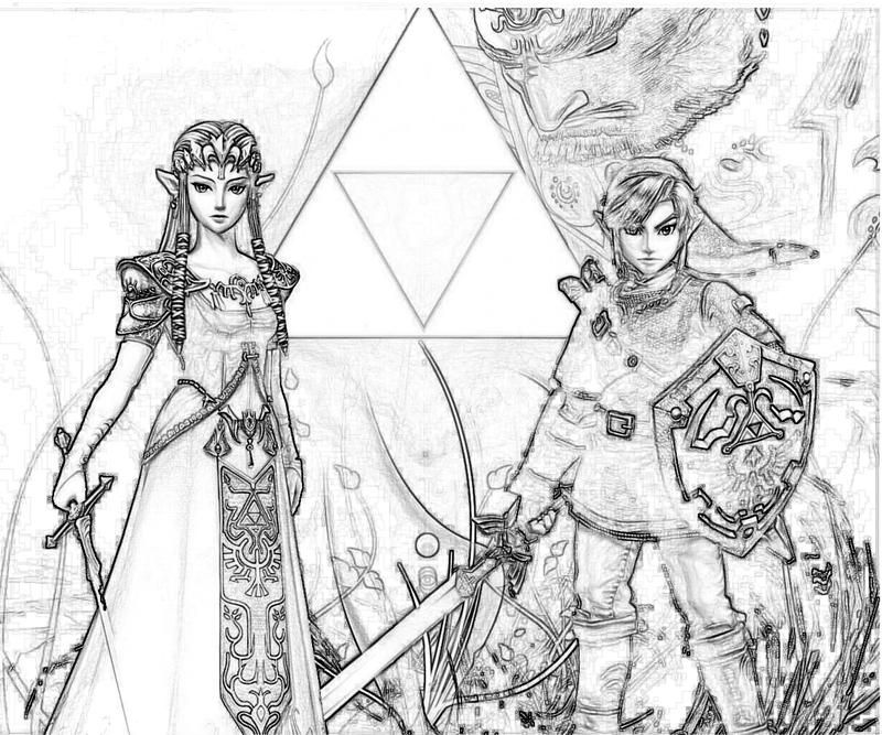 Legend Of Zelda Coloring Pages Printable The Legend Of Zelda
