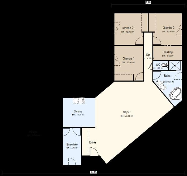 Incroyable Plan De Maison En Bois Plein Pied Gratuit #15   Plan Maison  Plain Pieds