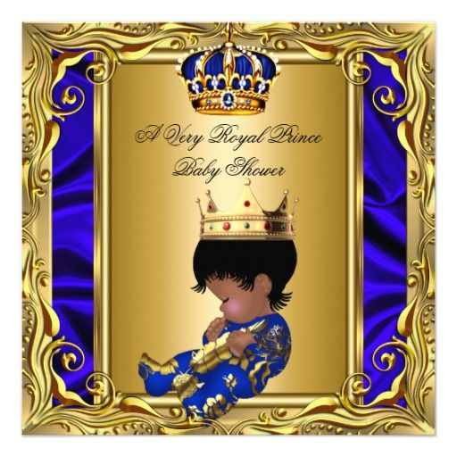 Prince royal blue baby shower regal gold boy card babies prince royal blue baby shower regal gold boy card filmwisefo