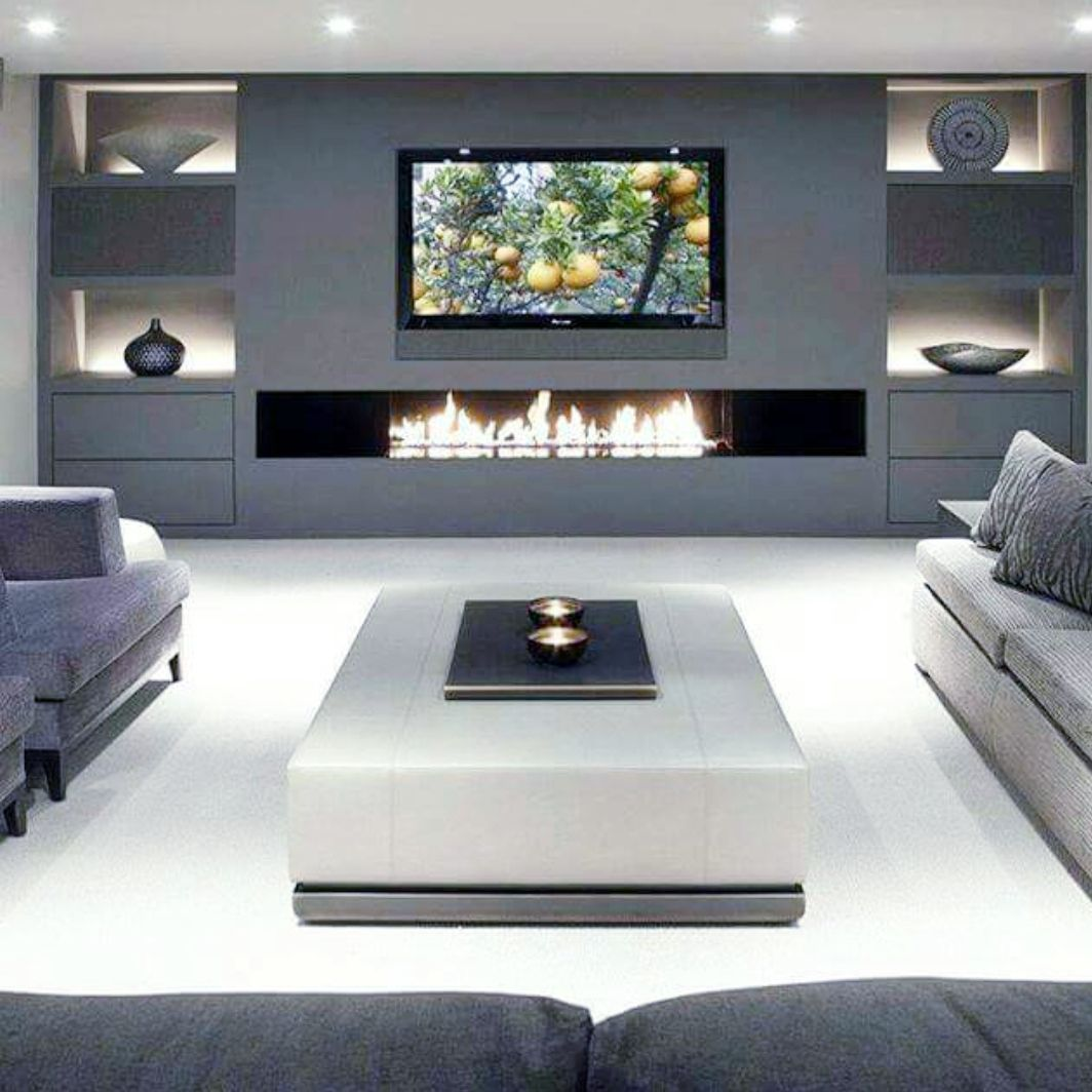 Pin By Keesjan Knipscheer On For The Home Living Room Design Modern Luxury Living Room Living Room With Fireplace