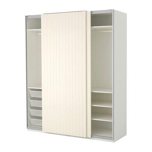 Ikea pax schiebetüren holz  PAX Kleiderschrank, weiß, Bergsfjord weiß 200x66x236 cm ...
