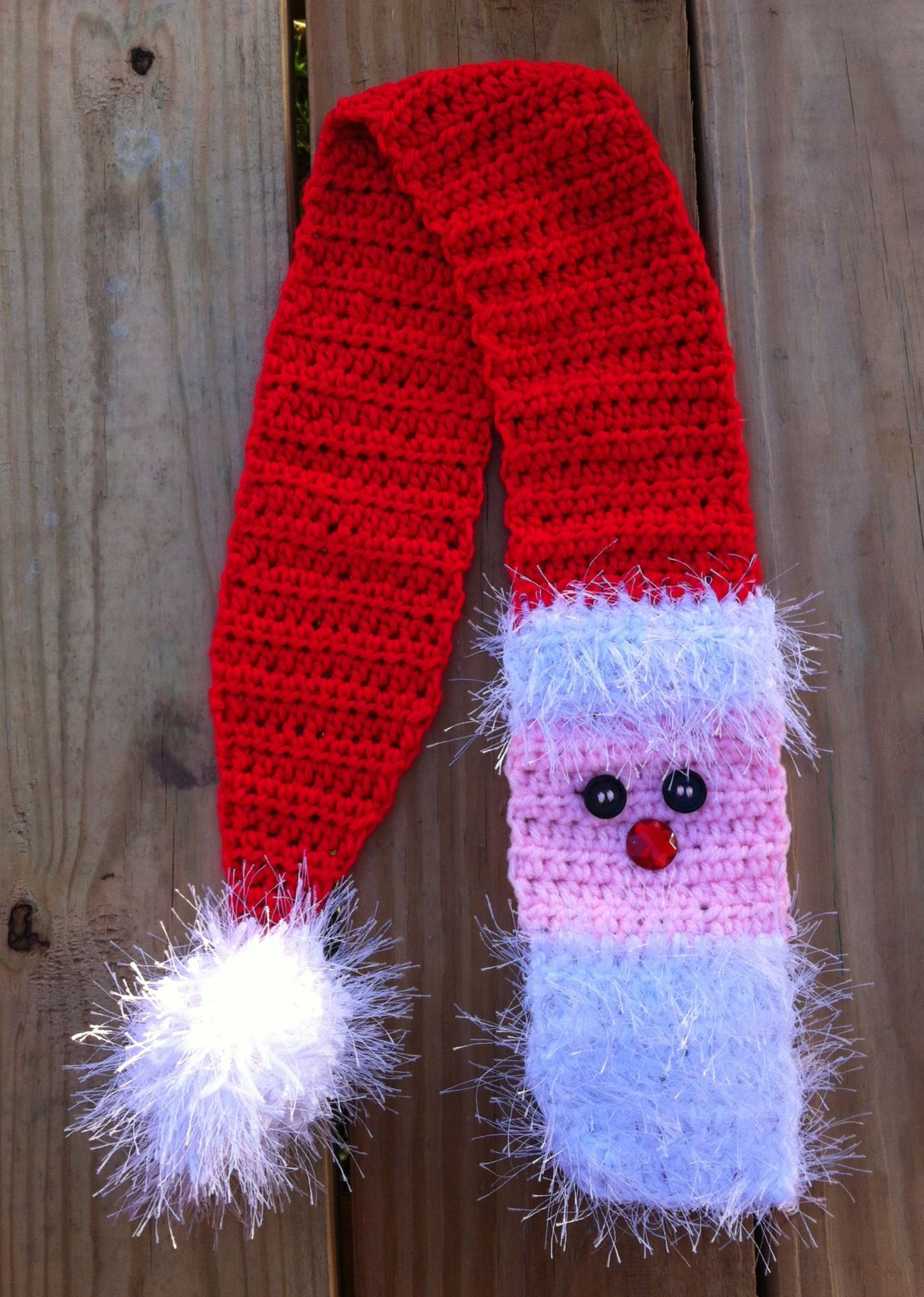 Crochet SANTA scarf! Soon to be available in my Etsy shop :) | I ...