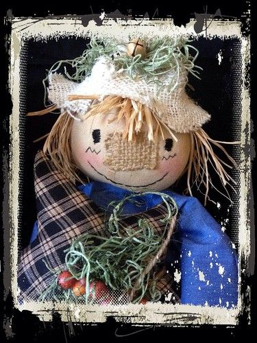 "New cute scarecrow for fall! click on the picture to go to the ebay auction or go to facebook and search ""Primitive with Luv!"" to see more!"
