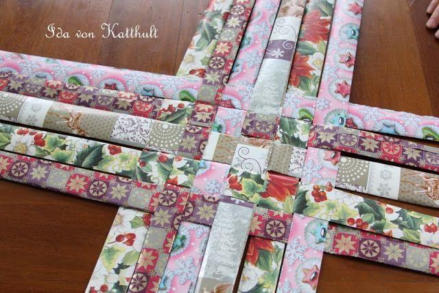 idas bloghaus diy korb aus papier flechten be creative pinterest diy weaving and paper. Black Bedroom Furniture Sets. Home Design Ideas