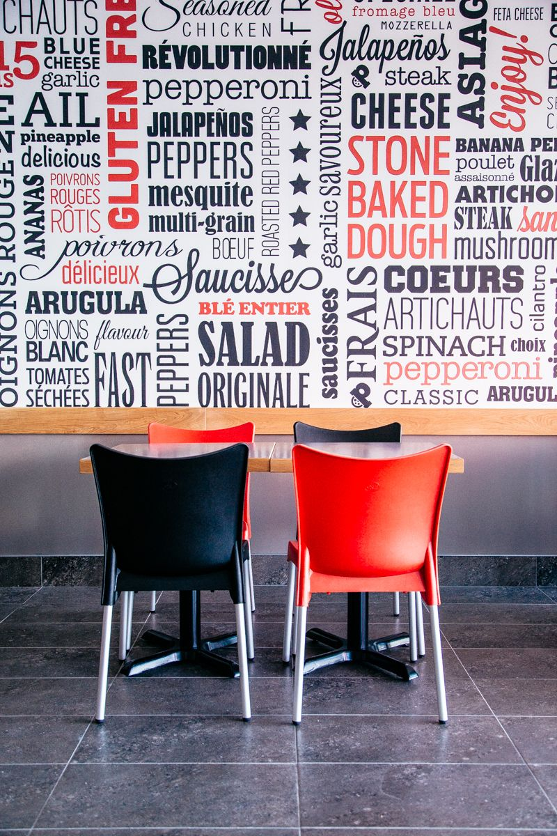 modern design beautiful typography wall design restaurant design - Multi Restaurant Design