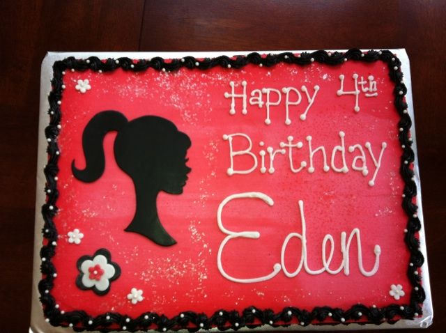 barbie sheet cake - Google Search Cupcakes! Pinterest ...