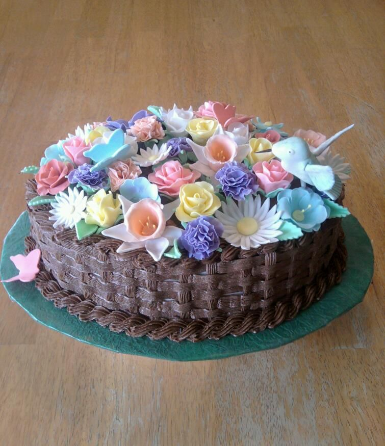 Flower Bouquet Birthday Cake By Ckiecrumb On DeviantART GORGEOUS I Would Love This For My